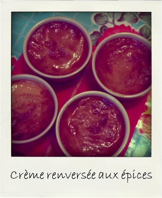 Crème renversée aux épices