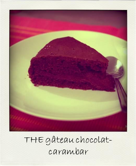 Gateau chocolat carambar