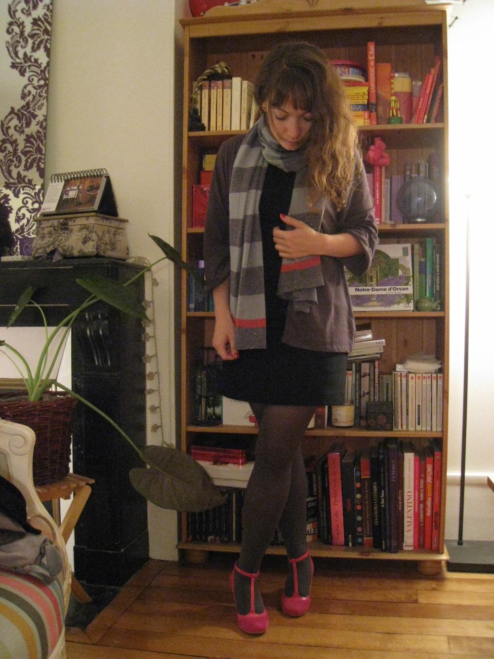 Pink suede shoes...et un peu de gris aussi