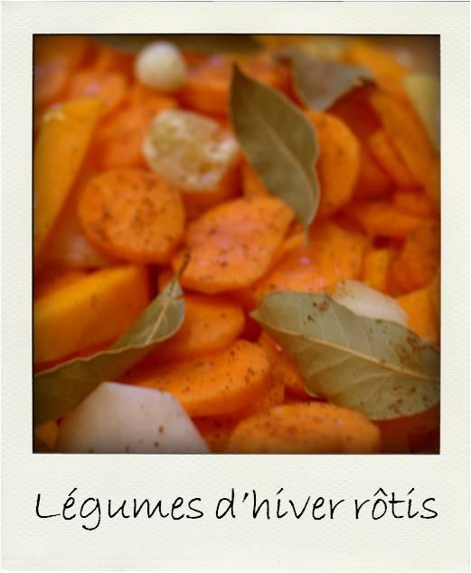 Légumes hiver rotis