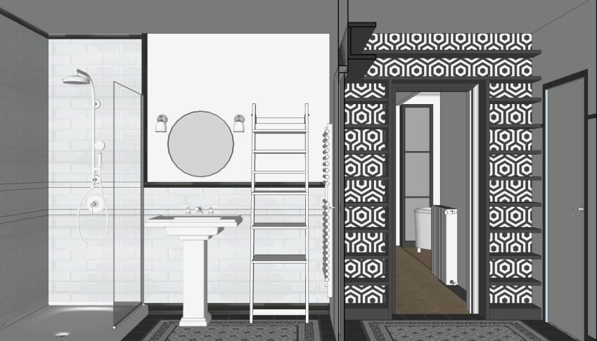 Phase APD - Salle de bain et entrée - Vue 2