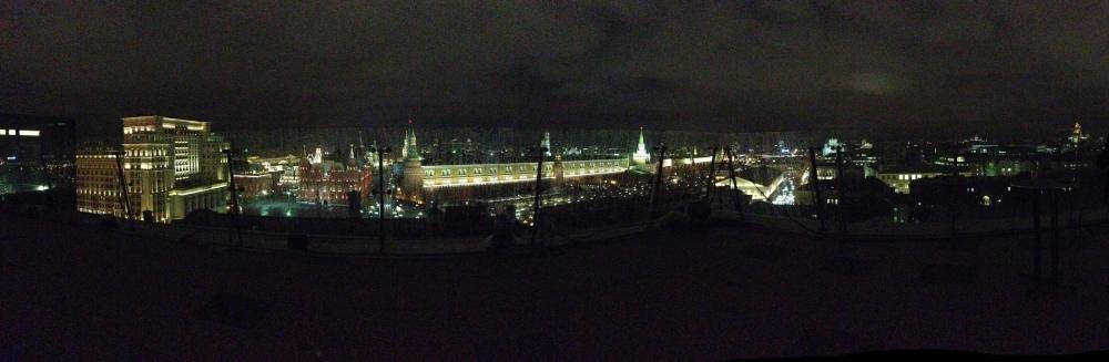 La vue sur le Kremlin et la Place Rouge depuis le toit du Ritz-Carlton